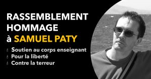 Rassemblement hommage à Samuel Paty
