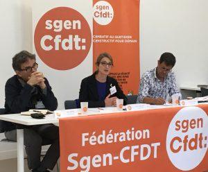 Conférence de presse de rentrée du Sgen-CFDT