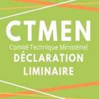 CTMEN du 30 septembre 2020 : déclaration